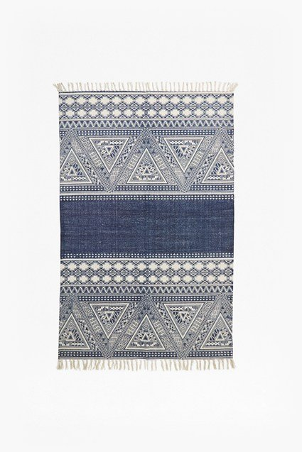 Black And White Aztec Patterned Rug Collection French