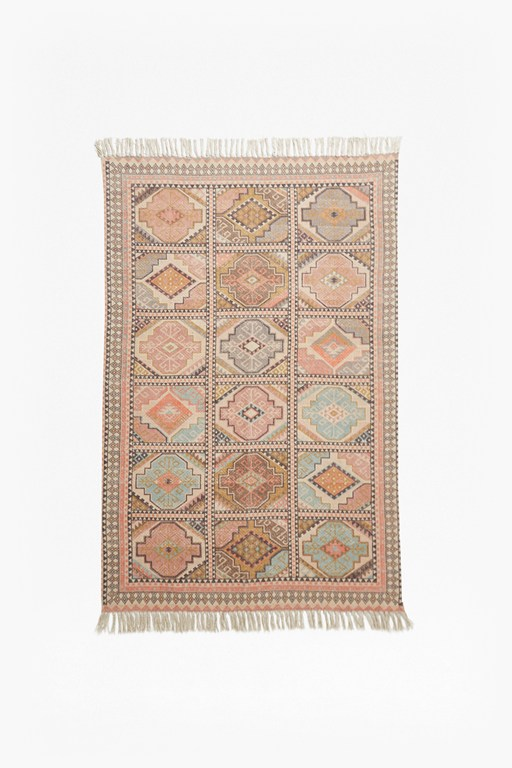 Complete the Look Pink Tiled Rug