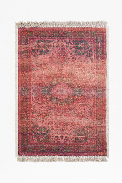 Complete the Look Large Recycled Polyester Crimson Cassis Rug