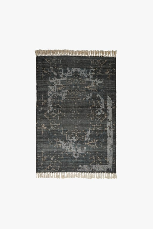 medium recycled indigo mist rug