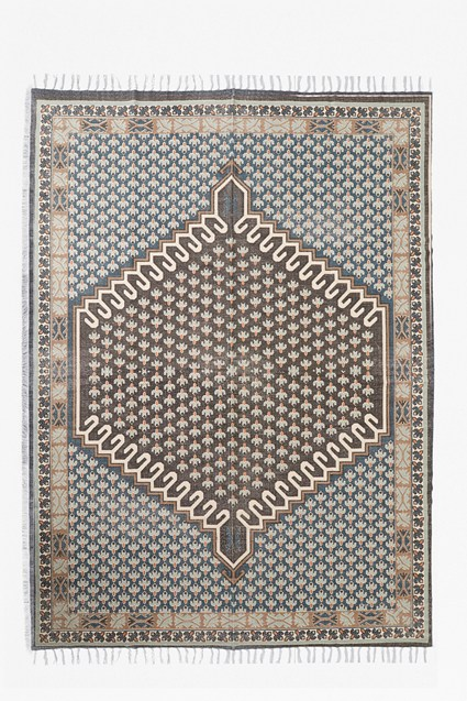 Extra Large Poppy Rug Blue