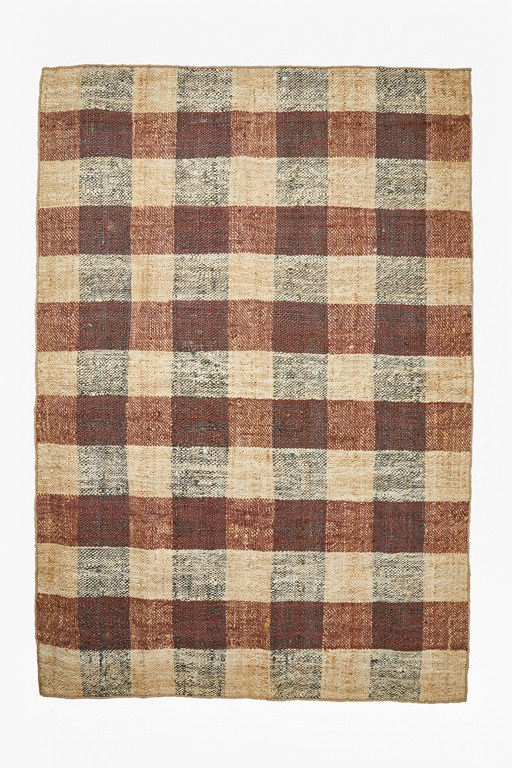 maize chequered rug