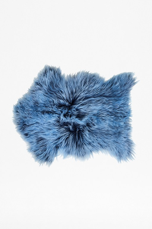 blue tipped cashmere pelt