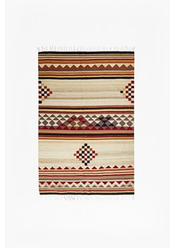 Orange Aztec Patterned Rug