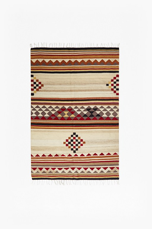 Complete the Look Orange Aztec Patterned Rug