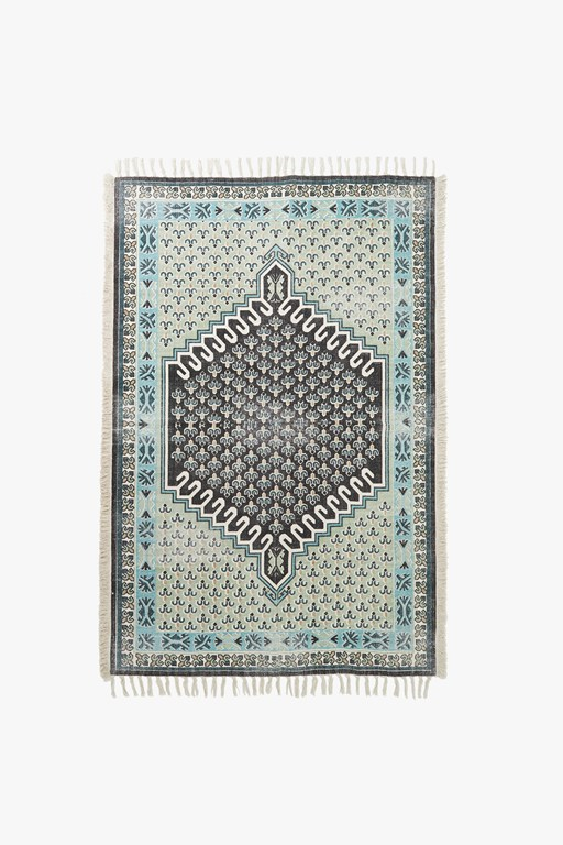 mint medium poppy field rug