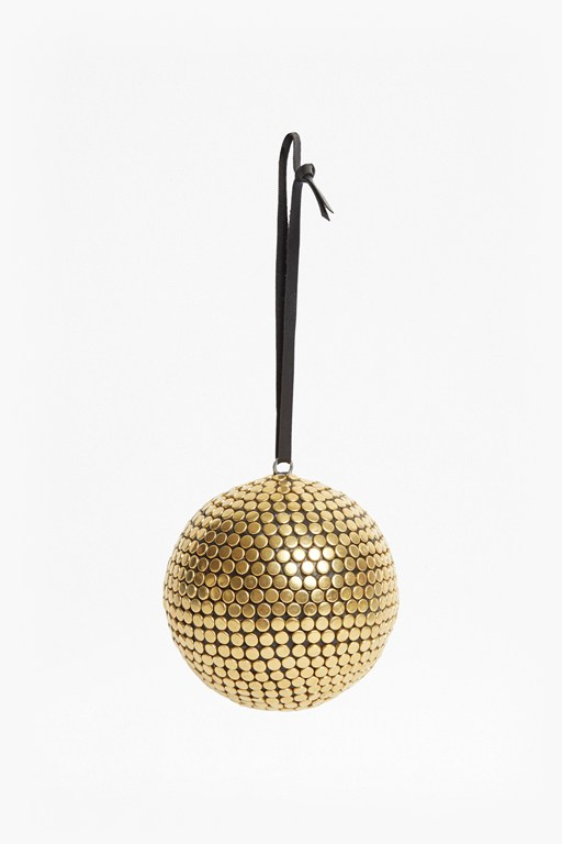 gold studded orb bauble