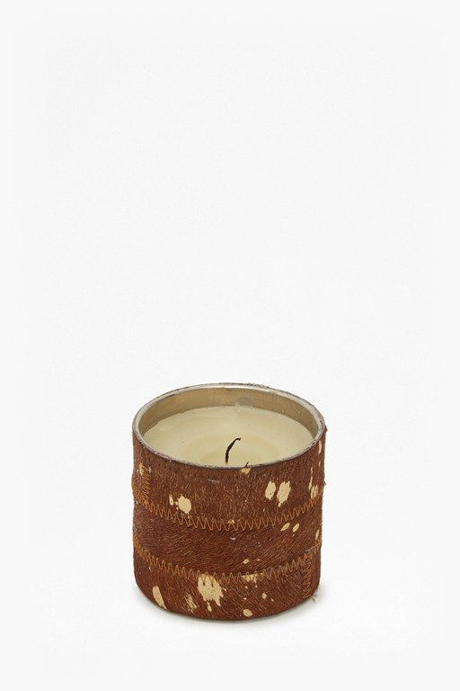 cowhide candle small