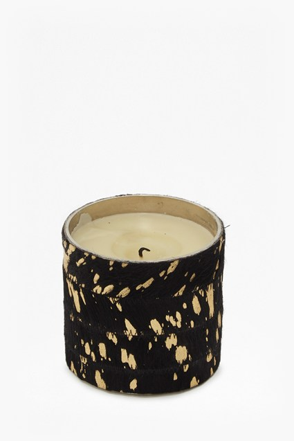 Large Cowhide Candle