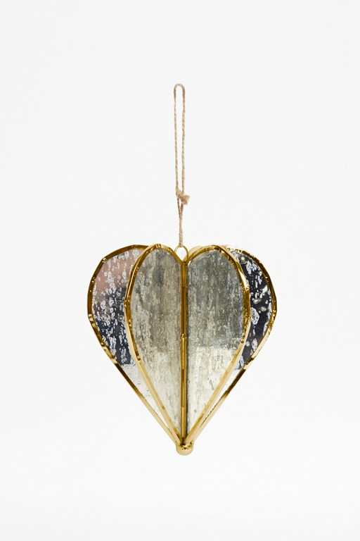 large gold helix heart ornament