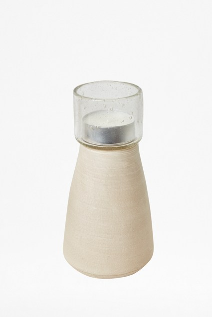 Medium Sand Stoneware Candle