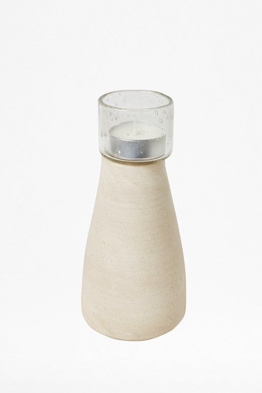 Complete the Look Large Sand Stoneware Candle
