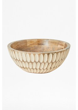 Almond Carved Elipse Bowl
