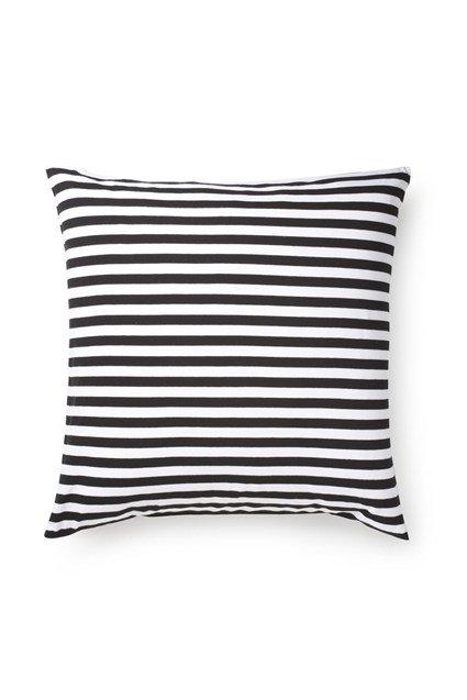 French Connection Classic Stripe Jersey Cushion Navy/White
