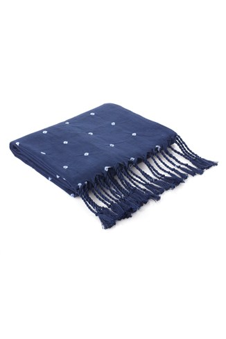 Indigo Dotted Throw