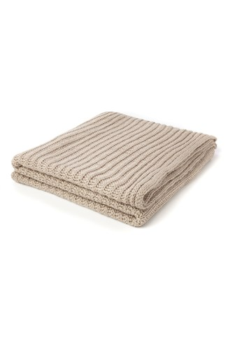 Ribbed Knit Throw