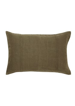 Distressed Pintuck Linen Cushion