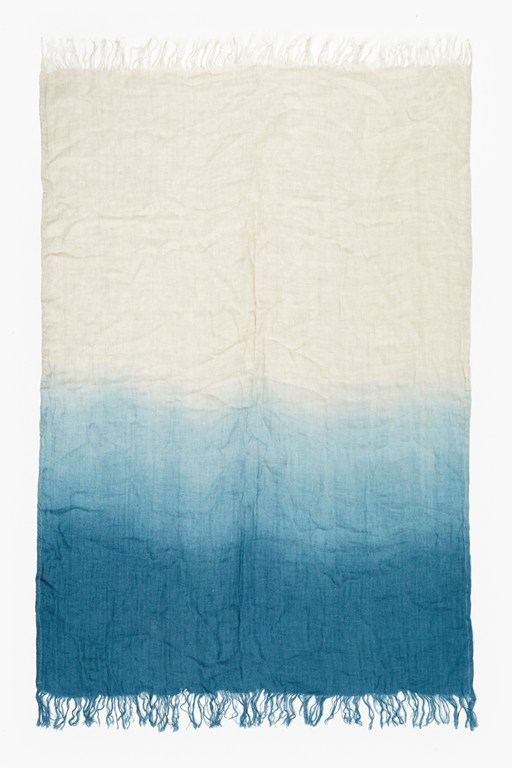 Complete the Look Sapphire Linen Dip Dye Throw