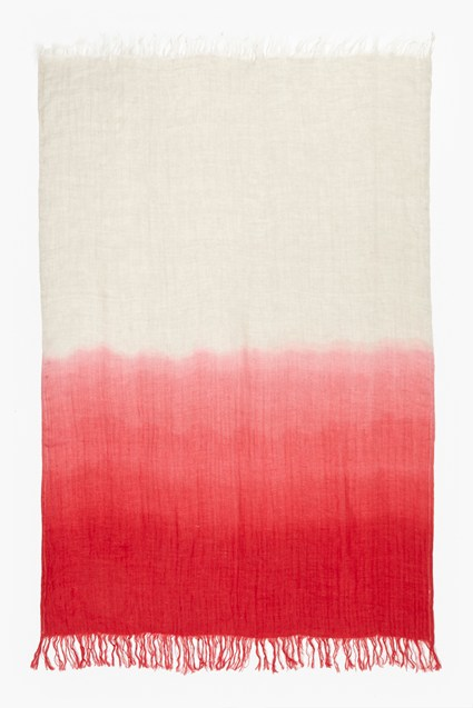 Ruby Linen Dip Dye Throw