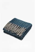Looks Great With Blue Super-soft Herringbone Throw