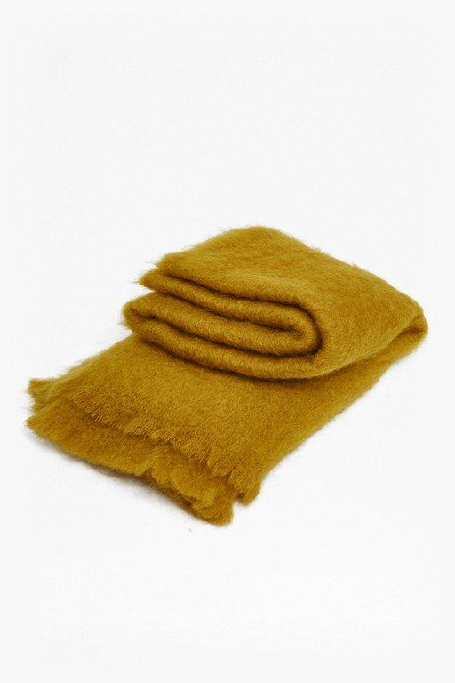 Complete the Look Ochre Mohair Throw