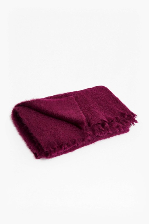 aubergine mohair throw