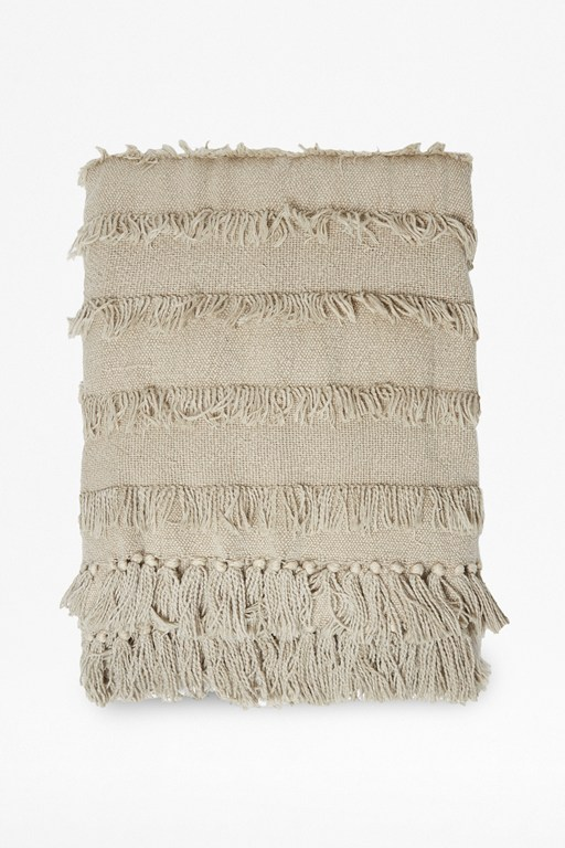seraphina natural tassel throw