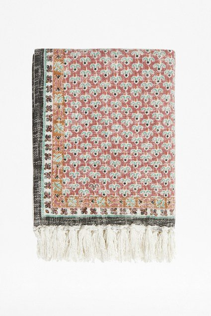 Poppy Field Pink Throw