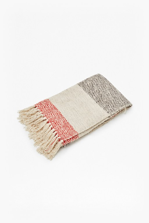 striped twirl throw