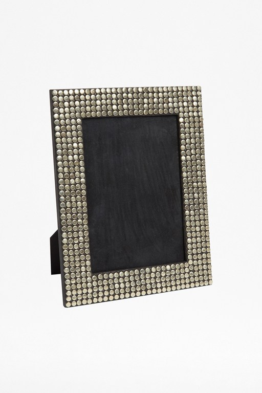silver studded photo frame