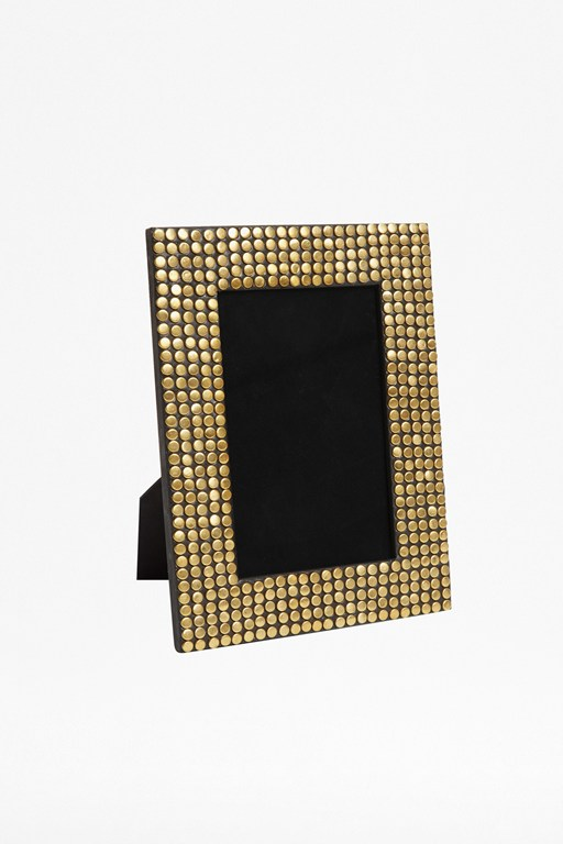 gold studded photo frame