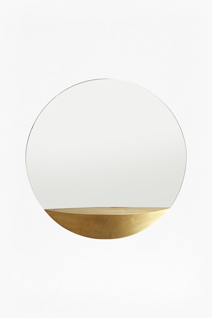 Gold Shelf Mirror