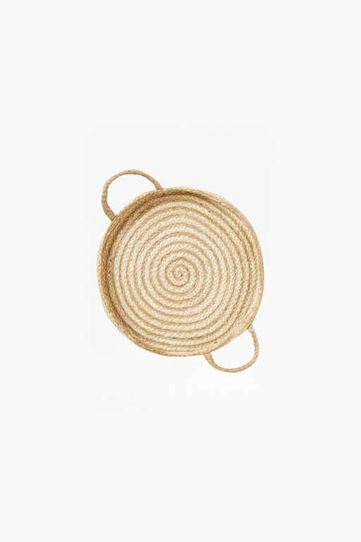 small white spiral wall basket