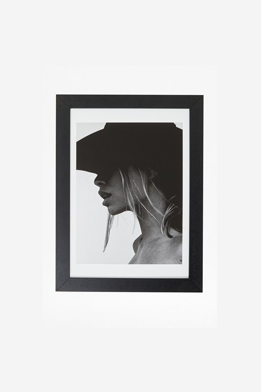 framed female shadow print 30x40