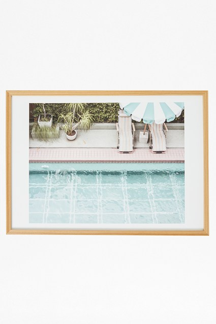 Framed Poolside Print 50X70