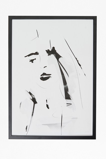 Large Framed Female Portrait Print 50X70