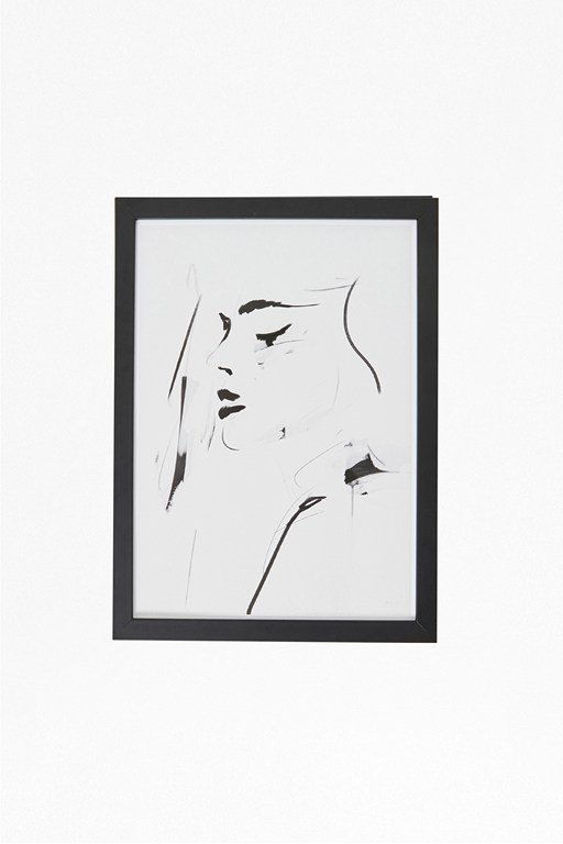 small framed female portrait print 30x40