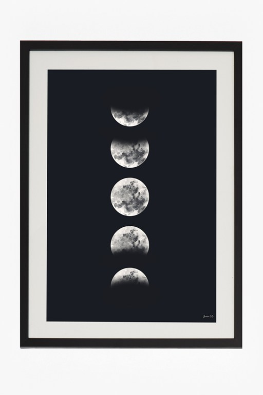 large framed eclipse print 50x70