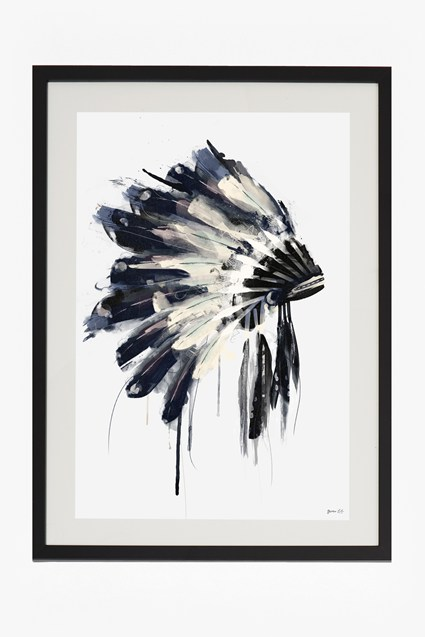 Large Framed Headdress Print 50X70