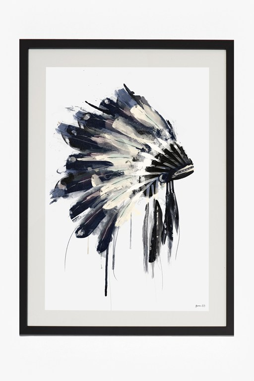 Complete the Look Large Framed Headdress Print 50X70