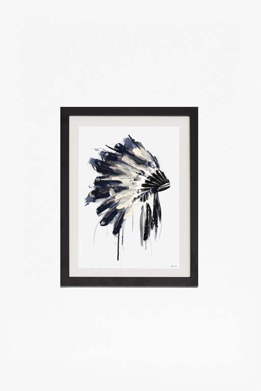 small framed headdress print 30x40