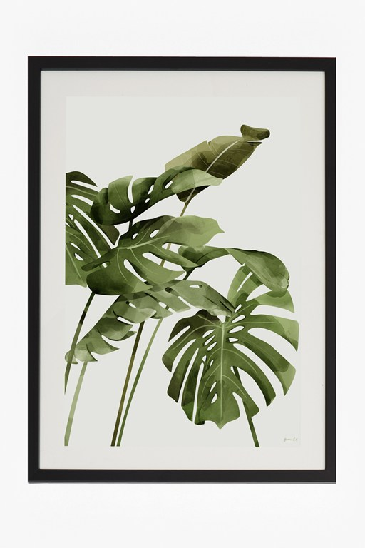 Complete the Look Large Framed Tropical Leaf Print 50X70