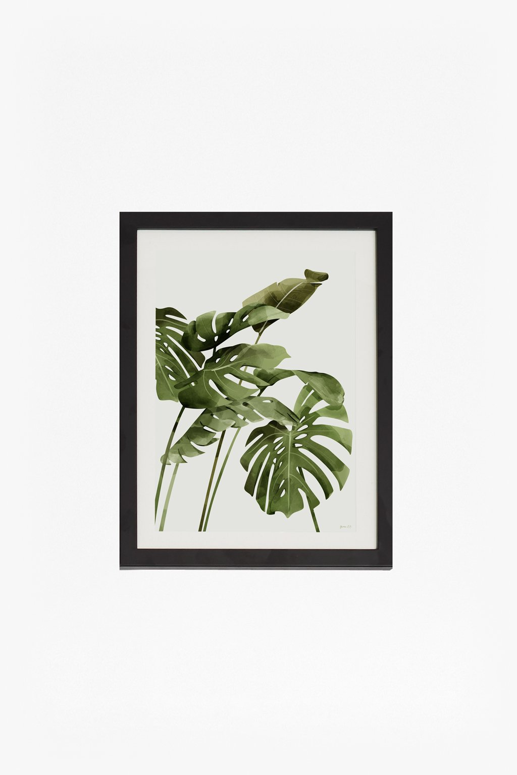 Small Framed Tropical Leaf Print 30x40 Collection French Connection