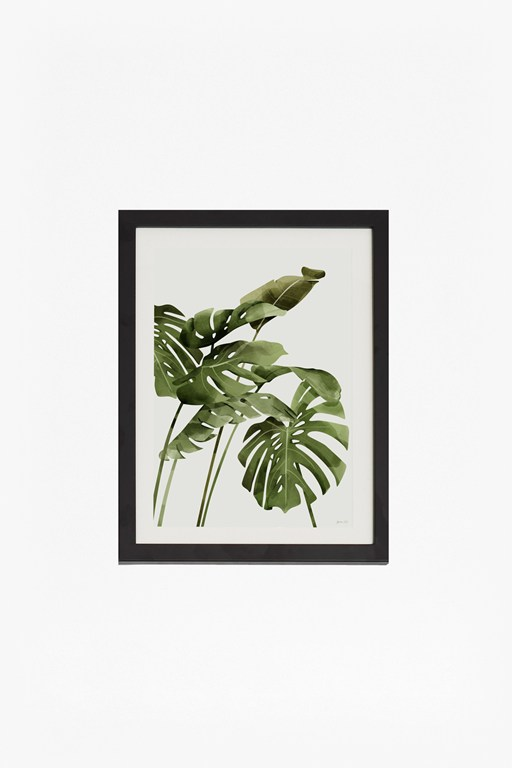 small framed tropical leaf print 30x40