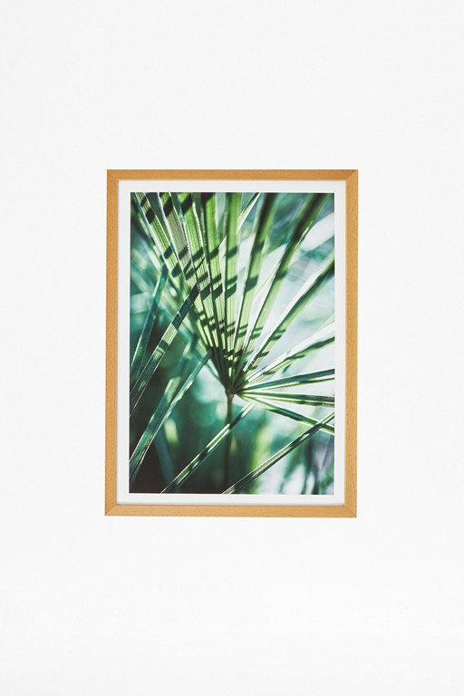 Complete the Look Through The Green Print In Hardwood Frame 30X40