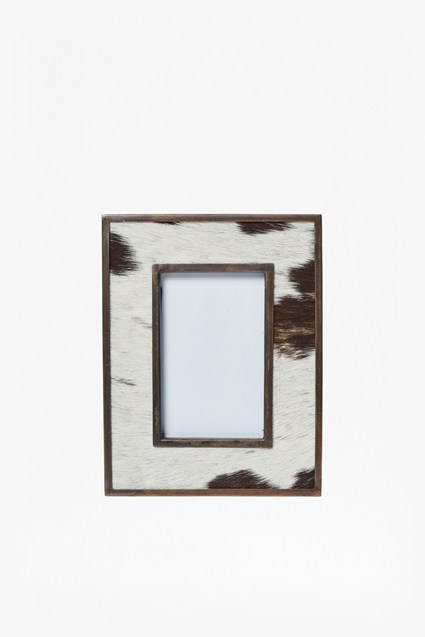 Natural Cowhide Photo Frame