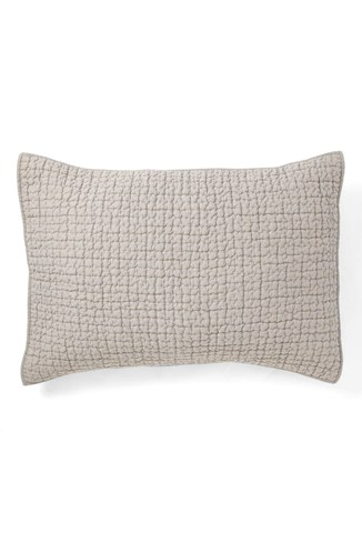 Grid Stitched Linen Cushion Cover
