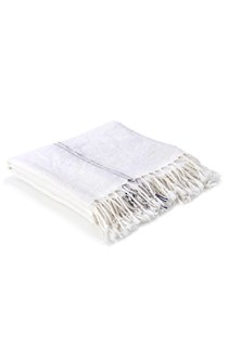 Ticking Linen Throw