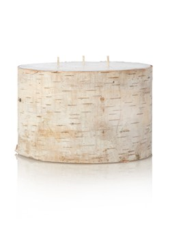 Triple Wick Pillar Birch Candle