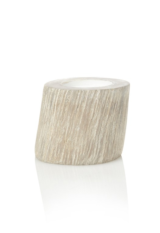 Whitewashed Mango Wood Votive